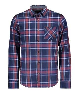 Vanguard Long Sleeve Shirt Twill check Medieval Blue VSI206234