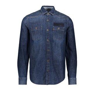 PME Legend Long Sleeve Shirt Denim fabric Indigo PSI206231
