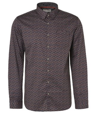 No Excess Shirt Long Sleeve All Over Printed grey Print 97480905
