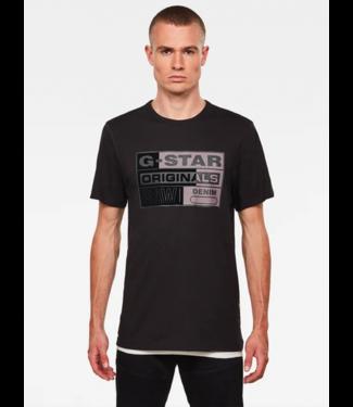 G-Star 3D Raw logo slim shirt s/s zwart D18182-336-6484