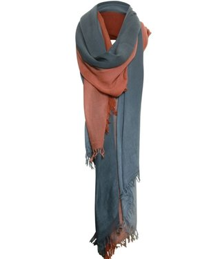 Poools Scarf ombre rood 033302