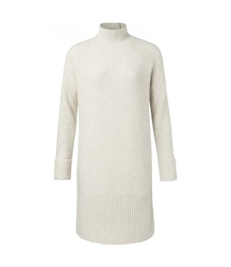 Yaya Rib dress with sequins BLANC DE BLANC 1800295-024