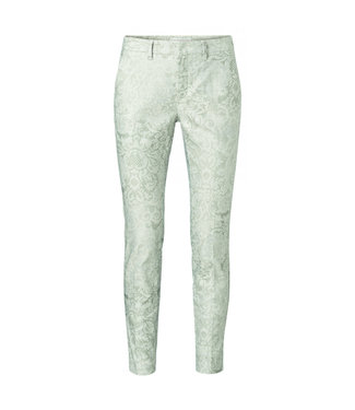 Yaya Cotton blend stretch chino FADED GREEN 121214-024