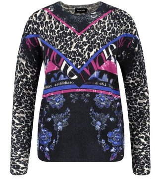Taifun PULLOVER LONG-SLEEVE NAVY PATTERNED 672063-15415