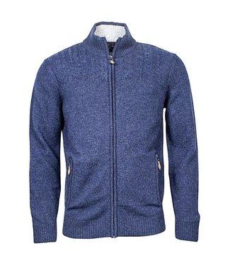 Baileys Cardigan zip blauw 202060