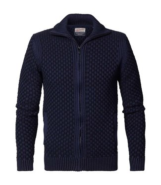 Petrol Industries Knitwear cardigan donkerblauw m-3000-kwc236