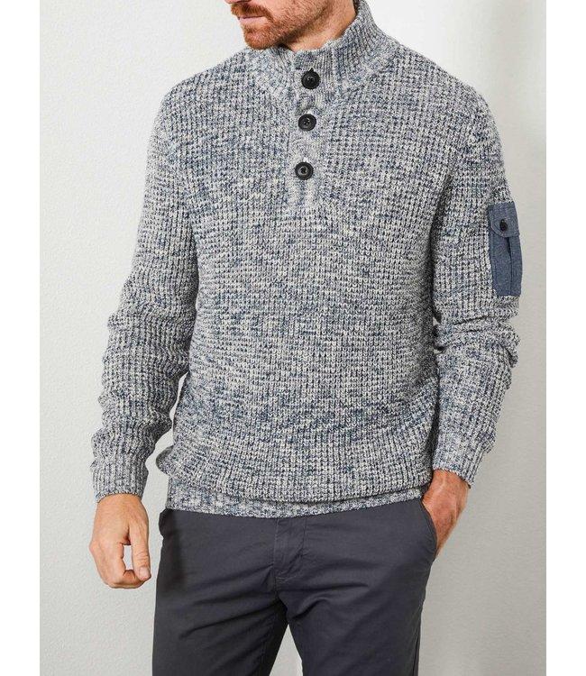 Petrol Industries Knitwear collar blauw M-3000-KWC234