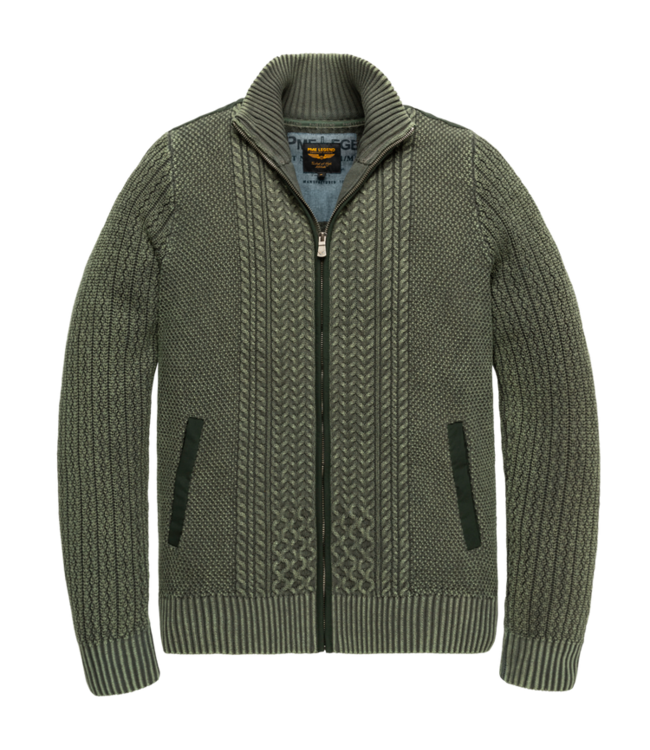 PME Legend Zip jacket cotton cable stonewash Scarab PKC207350