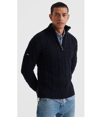 Superdry Jacob Henley donkerblauw M6110041A