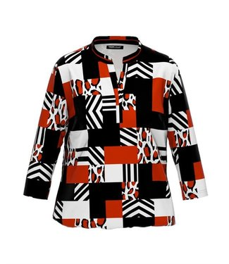 Frank Walder Shirt rood print W02209425