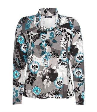 Frank Walder Shirt blauw print W02622410