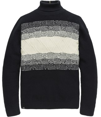 Vanguard Roll neck cotton placed mouline Salute VKW207345