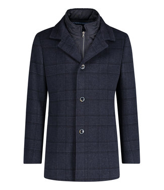 State of Art Jacket Checked - donkerblauw 785-20616-5900