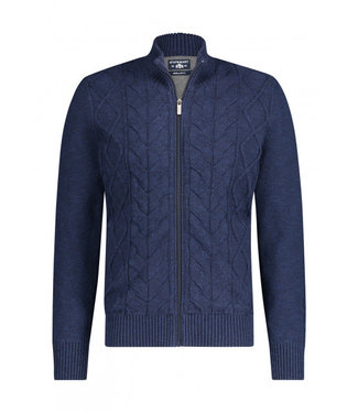 State of Art Cardigan Plain - donkerblauw 161-20158-5956