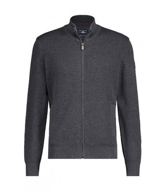 State of Art Cardigan Plain  - donkerantraciet 161-20131-9859