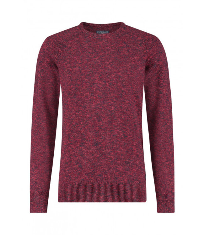 State of Art Pullover Crew-Neck wijnrood 111-20157-4759