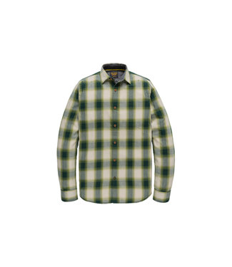 PME Legend Long Sleeve Shirt Twill Check Calliste Green PSI207205