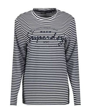 Superdry Stripe graphic NYC top donkerblauw W6010434A