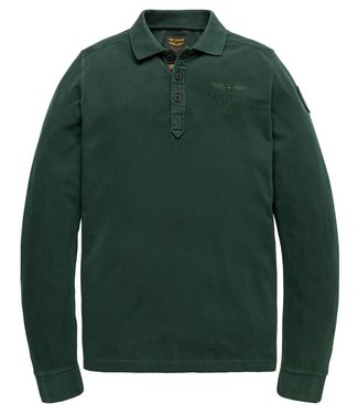 PME Legend Long sleeve polo rugged pique Scarab PPS207816