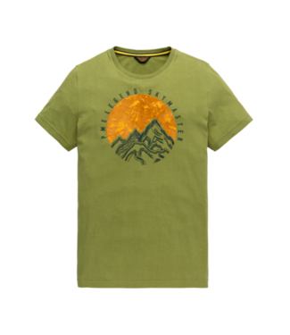PME Legend Short sleeve r-neck peach jersey Calliste Green PTSS207521