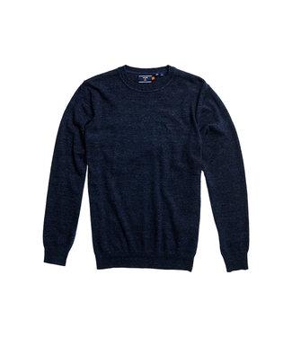 Superdry Orange label crew blauw M6110082A