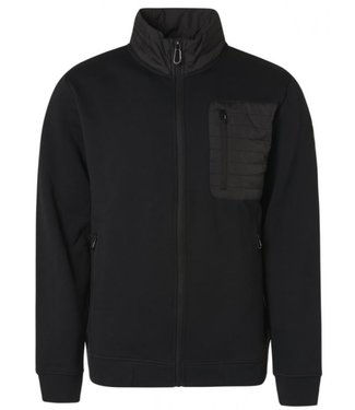 No Excess Sweater Full Zip Fleece + Nylon black 97100943