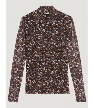 Catwalk Junkie LONGSLEEVE PAINTED FLOWERS SHEER **00 2002040605