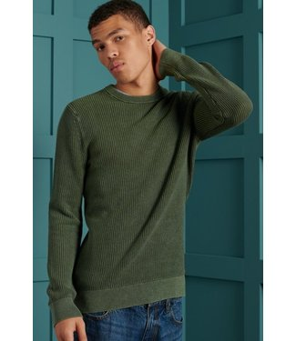 Superdry Academy dyed texture crew groen M6110037A