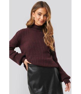 NA-KD Dropped big sleeve sweater bruin 1018-003261