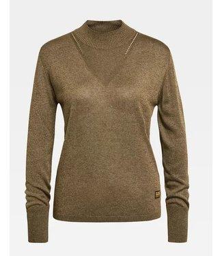 G-Star Stokyr turtle slim knit bruin D17814-C500-C224