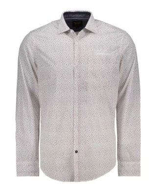 PME Legend Long Sleeve Shirt All-over print o Bright White PSI208220