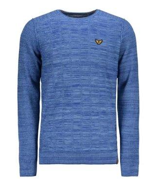 PME Legend Crewneck cotton mouline Blue Heaven PKW208320