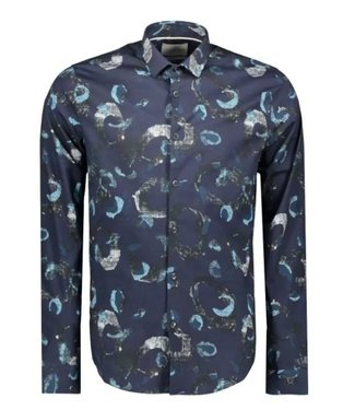 Cast Iron Long Sleeve Shirt Print on Poplin Night Sky CSI208204