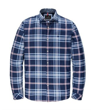 Vanguard Long Sleeve Shirt Twill Check Medieval Blue VSI208284