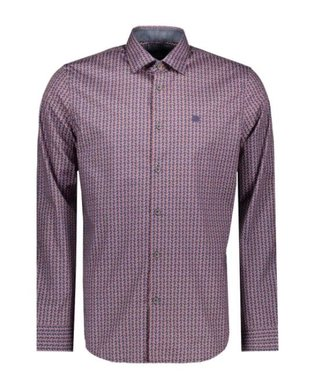 Vanguard Long Sleeve Shirt Print on poplin Medieval Blue VSI208280