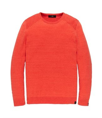 Vanguard Crewneck cotton 2 tone mouline Spicy Orange VKW208351