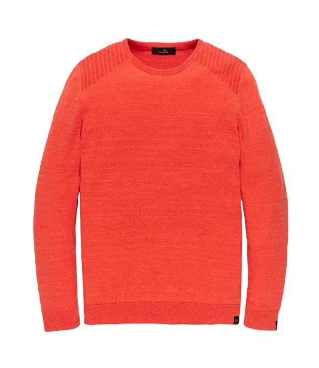 Vanguard Crewneck cotton 2 tone mouline Spicy Orange VKW208351