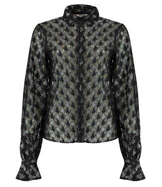 NA-KD Flowy sleeve shirt zwart 1018-005389
