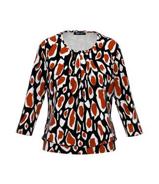 Frank Walder Shirt 3/4 Ärmel orange Print W02621438