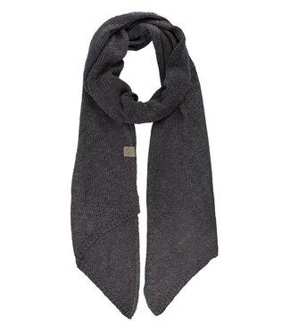 Zusss Gebreide sjaal grijs Gebreide sjaal