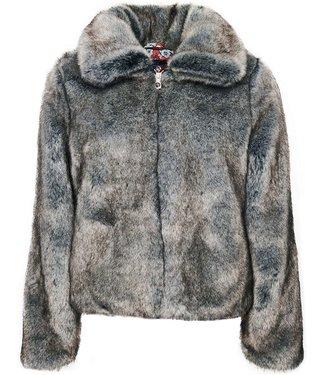 Superdry Boho faux fur jacket off white W5010146A