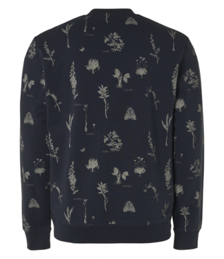 No Excess Sweater Crewneck Allover Printed **01 11100110