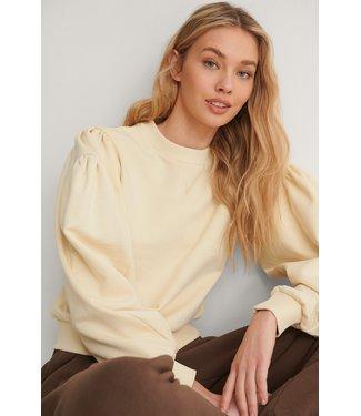 NA-KD Puff sleeve sweatshirt zand 1660-000242