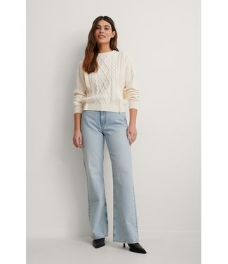 NA-KD Relaxed full length jeans lichtblauw 1660-000208