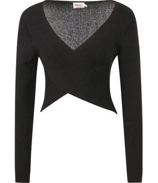NA-KD Crossover sweater zwart 1018-006302