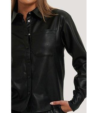 NA-KD Pu Shirt zwart 1018-006266
