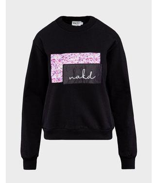 NA-KD NA-KD logo sweater zwart 1660-000219