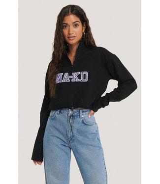 NA-KD Cropped NA-KD sweater zwart 1660-000221