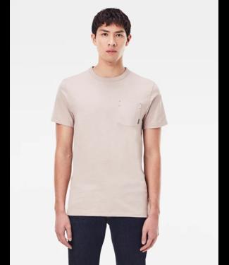 G-Star Contrast mercerized pkt t-shirt zand D19203-B255