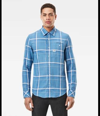 G-Star Bristum 1 pkt slim shirt lichtblauw D18997-C647-C314